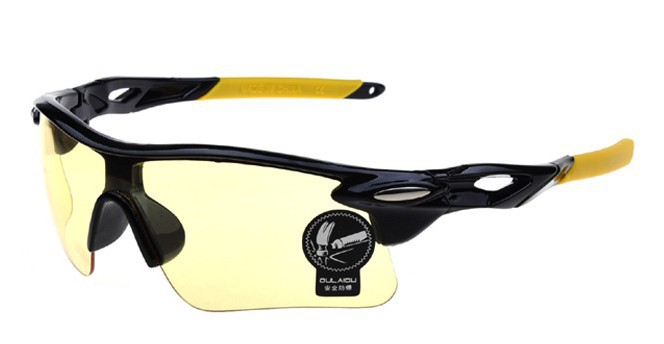 2014 New Brand Designer Yellow Cycling Glasses Men Women Outdoor Bike