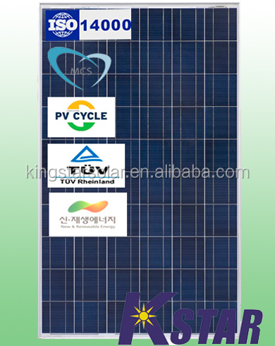 stock of High quality and Competitive price of polycrystalline 250w king star solar panel(KS250P-60) TUV/IEC/CEC