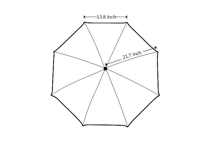 Зонт DIY  43.5Inch