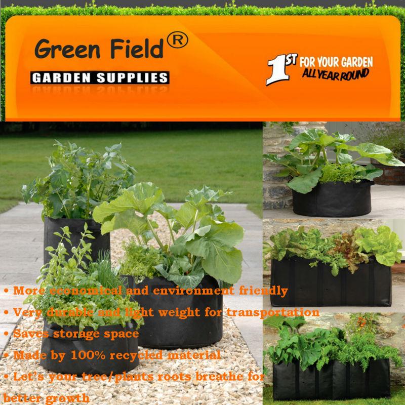 Green Smart Pots Green Field Felt Smart Pots 5
