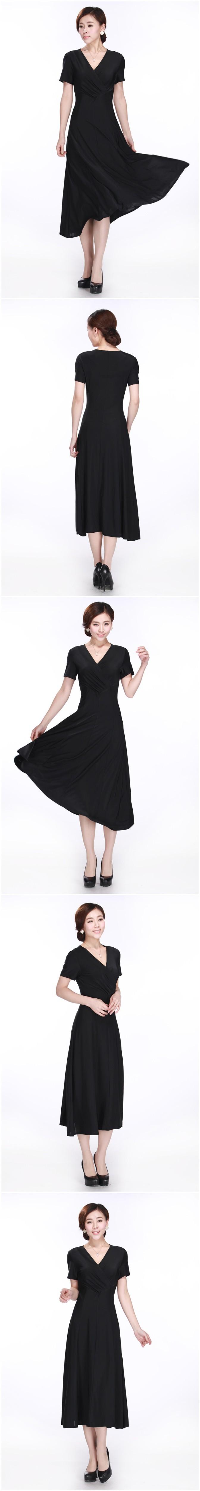 b050614 моды короткие летние благородных элегантный цельный платье плюс размер xxxxl полный платье подарок матери длинное платье свободный корабль