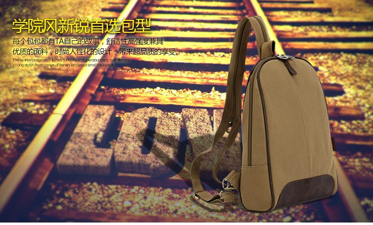 Top Quality Fashion Cotton Canvas Women Backpack Ladies Double