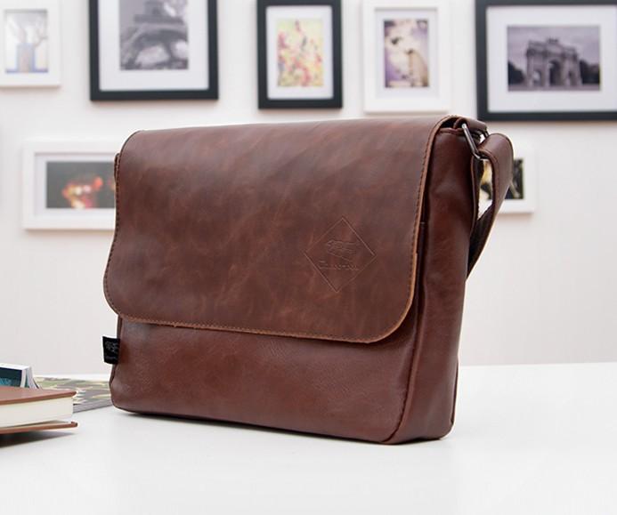 Men Messenger Кожа PU является высокотехнологичным и высокосортным продуктом. Этот продукт имитирует строение кожи, для его изготовления применяется сверхтонкое волокно и высокосортный полиуретан , производится по новой технологии. Кожа с покрытием PU это внутренние вт Leather Модный Vintage Плечи Черный Хаки Bags For Pad Phone Vintage Leather Bag Men Crossbody 140512