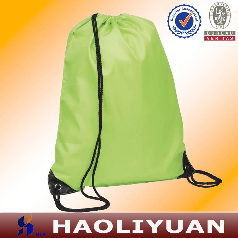 Polyester dark round travel drawstring bag for sleeping bag