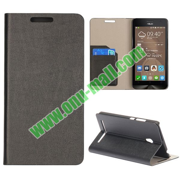 Crazy Horse Texture Wallet Flip Leather Case for Asus Zenfone 6
