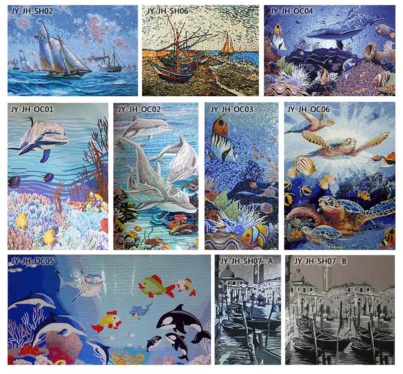 Ztclj jy jh oc04 hot sale art animal mosaic tile picture for 3d murals for sale
