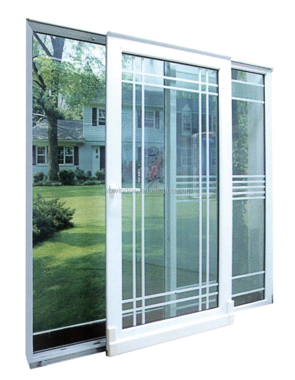 Energy Star Double Triple Insulating Glass PVC UPVC Sliding Doors With