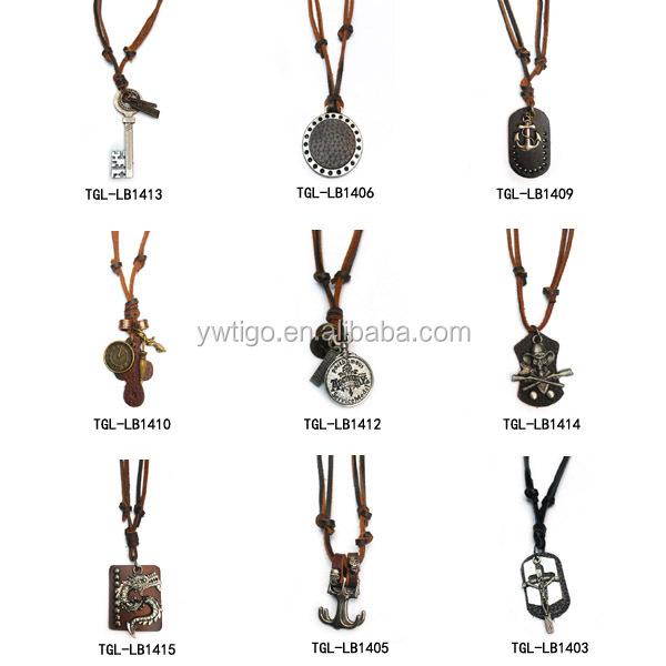 Antique genuine leather key pendant necklace meaning buy key 1g 2g aloadofball Choice Image