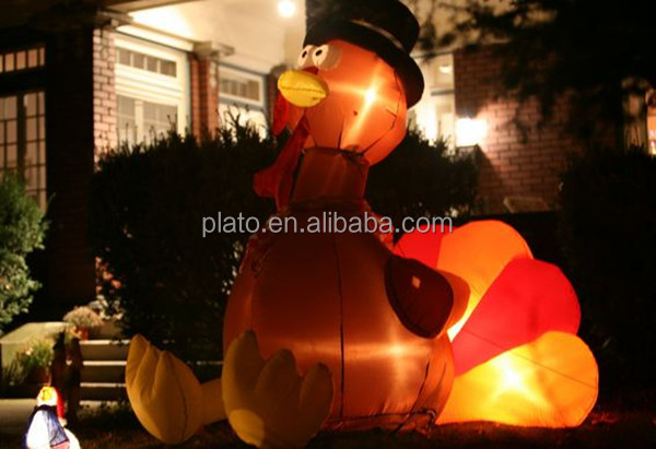 inflatable LED light turkey for thanksgiving