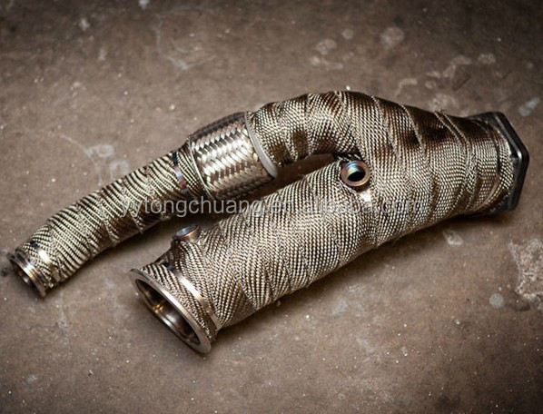 ... basalt fiber exhaust wrap.jpg ... & Motorycycle Exhaust Pipe Heat Insulation Wrap/titanium Basalt Fiber ...