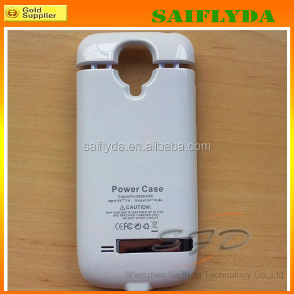 Hot selling 3000mah external power case for samsung galaxy s4 mini ,backup battery case