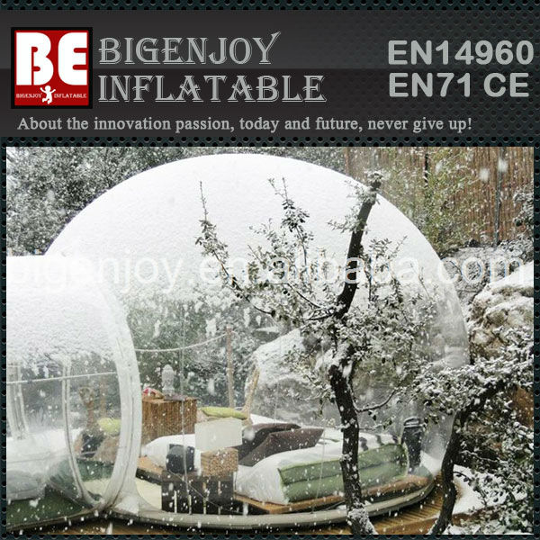 bubble tente igloo gonflable avec un tube appareil. Black Bedroom Furniture Sets. Home Design Ideas
