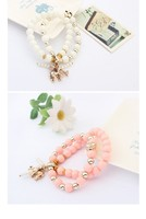 6-color West retro national wind auspicious elephant stretch bangles rose flower pearl rhinestone pendant bracelet jewelry 2014
