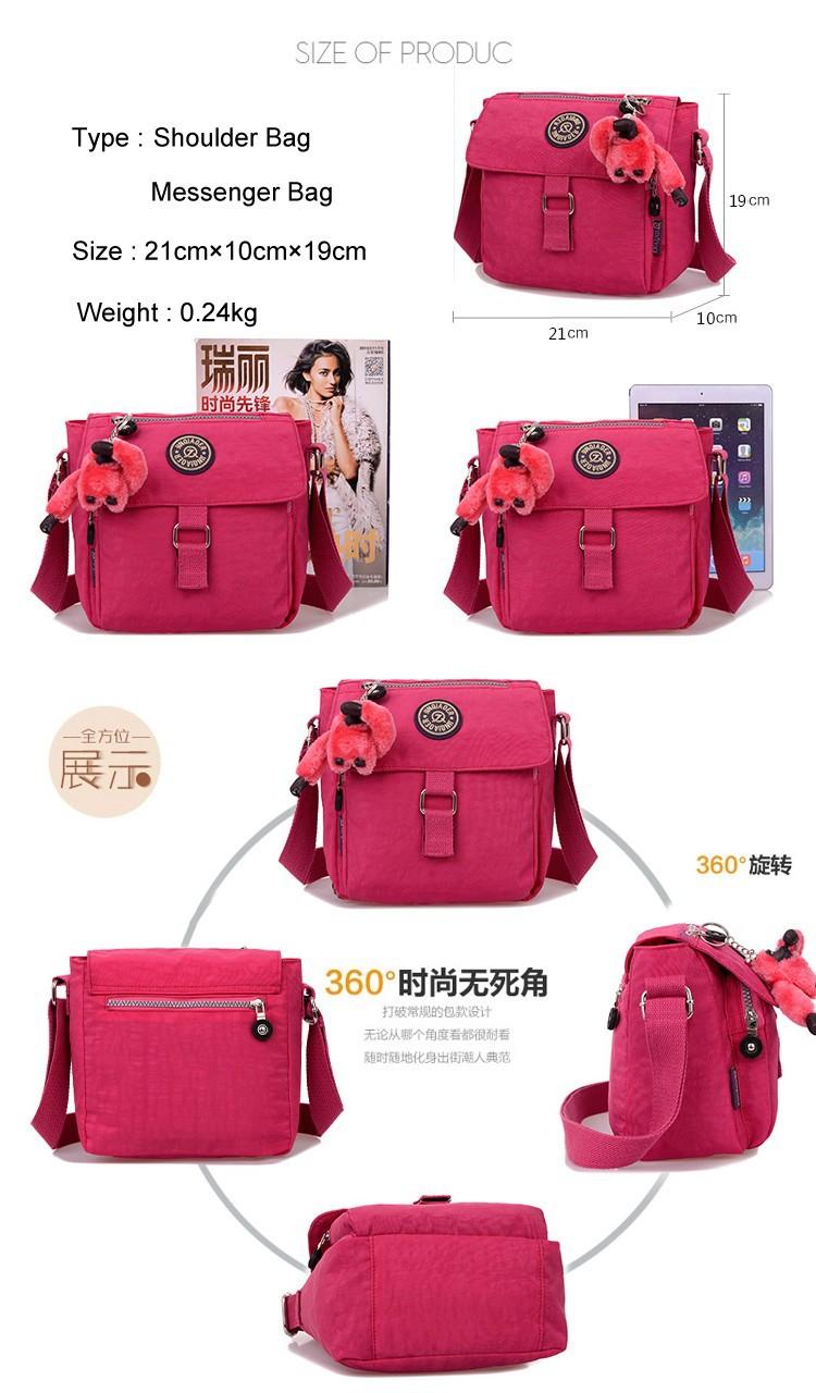 2014 Summer Women's Solid Travel Waterproof Handbag Shoulder