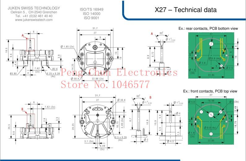 6 Pcs X27 168 Stepper Motor Instrument Cluster For