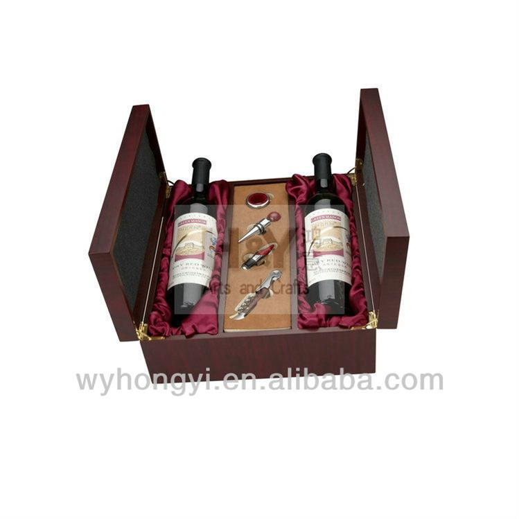 Wooden boxresuable jute wine tote bag