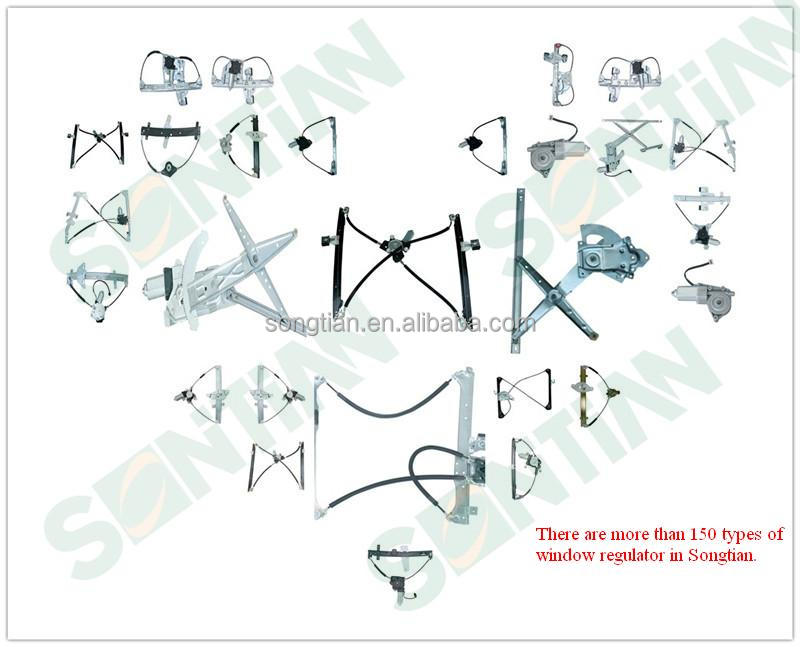 Chinese auto parts manufacturer 17801303 12V dc electric power window regulator without motor specification FOR GM from wenzhou