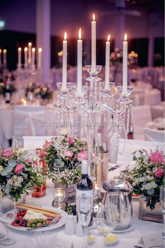 Crystal Decorative Floor Candelabras For Weddings Crystal