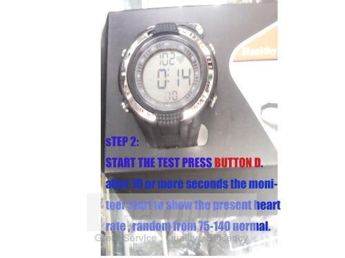 Нагрудный Heart Rate Monitor Калорий Mutifunction Шагомер Цифровой Пульс Спортивные Часы Упражнение ИМТ Памяти Режим Открытый