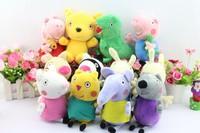 Новый 16шт/набор peppa свинья плюшевые куклы peppa Мишка geroge динозавр peppa свинья дедушка и бабушка peppa свинья друзья игрушки