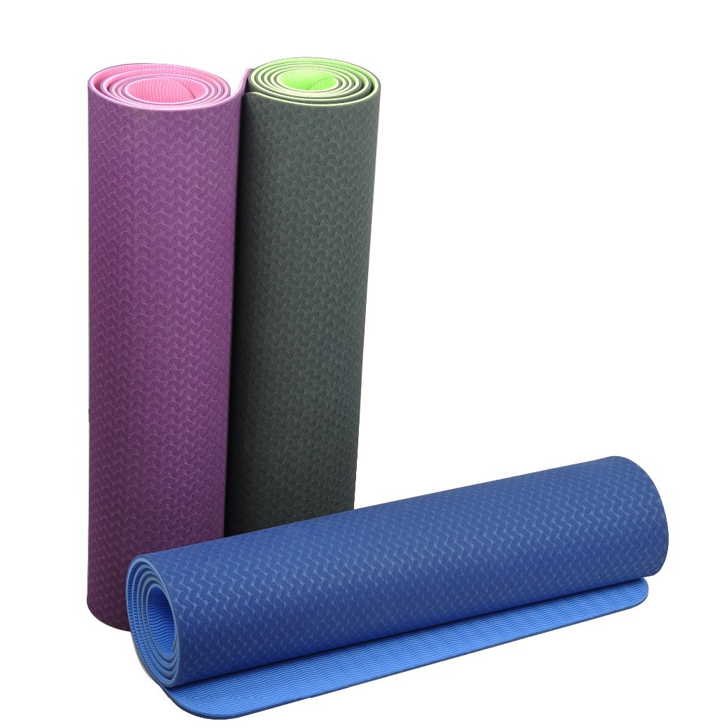 Eco-friendly TPE Yoga Mat,anti-slip eco TPE yoga mat with carry strap and carry bag,gymnastic Yoga Mat, sport Mats for yoga 01