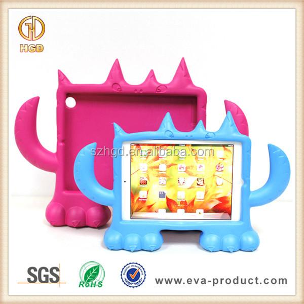 Kid proof EVA foam monster cute animal case for ipad mini