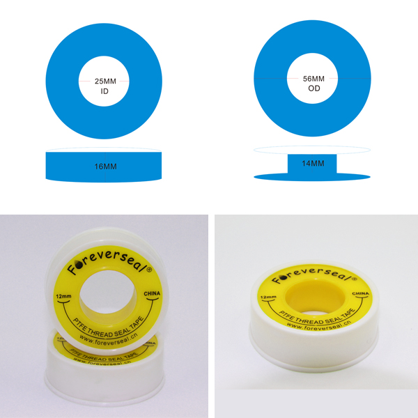 12mm X 10m 물 흰색 PTFE를 나사 씰 테이프 배관공 배관 공동