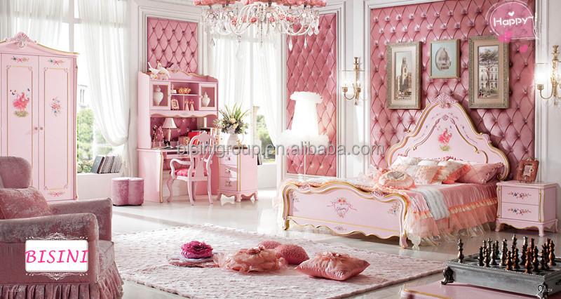 Euorope estilo princesa rosa cole o crian as mob lia do - Camere da letto bambina ...