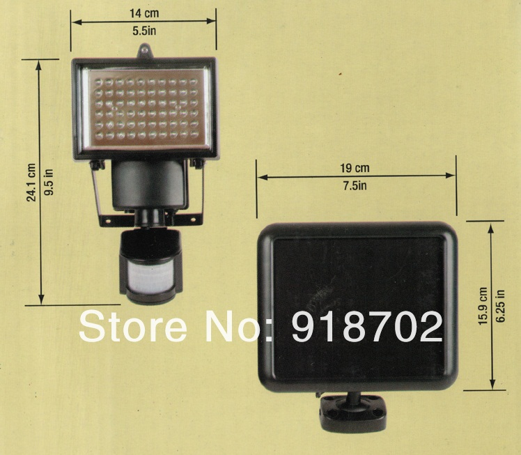 hot sale outdoor solar lights power garden lights 60 leds pir body motion sensor solar floodlights spotlights u2026 6968hannah