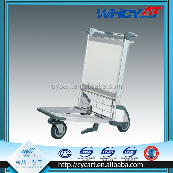 Cheap wire metal aluminum alloy airport trolley