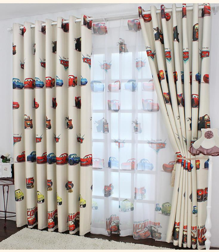 Wholesale Curtains For Home Green Kids Curtains For Bedroom Window Blackout  Curtains Cartoon Cars Boys Blinds Curtain Fabric Tulle