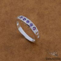 ar473 925 стерлингового серебра кольцо, 925 серебряные ювелирные изделия, редкие/фиолетовый камня инкрустированные /ejvanbca fwhaonoa