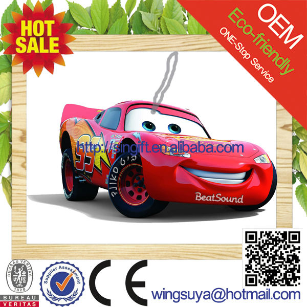 2015 new car scent hanging paper car perfume as car shaped promotional gift