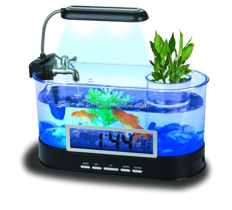 Fashionable Usb Aquarium Desktop Fish Tank With Led Light