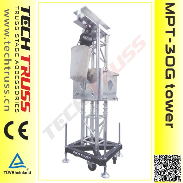 Truss lifting tower