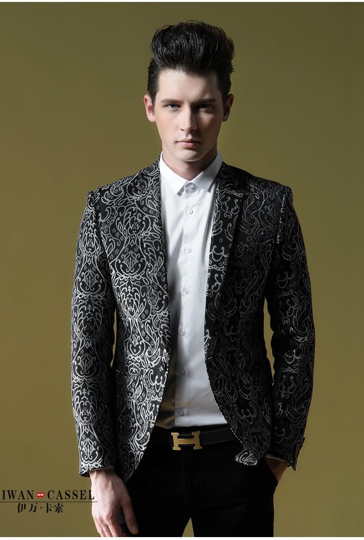 Новый мужской костюмы качества жаккардовый костюм для мужчин пиджак моды винтажные slim fit пуховики одного жаккард мужчина одежда