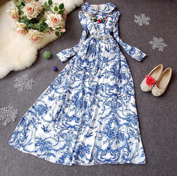 Бело Голубое Платье