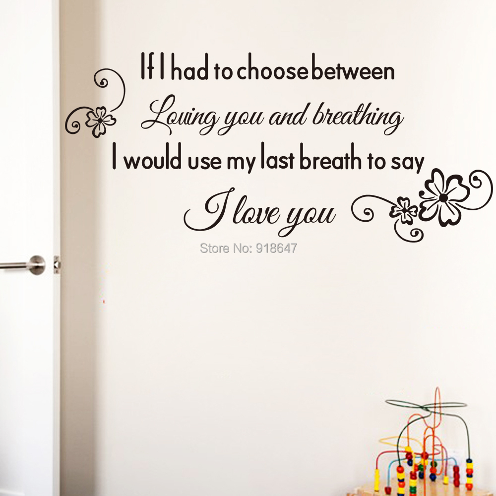 Love Wall Quotes Sia Wholesale New High Quality English Love Quotes Wall Stickers I