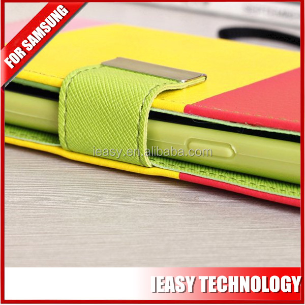 for samsung galaxy s5 Customized smart phone case colorful leather case for samsung galaxy s5