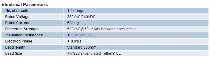 12.7mm 12 conductors slip ring design Exhibit / display equipment three phase slip ring motor