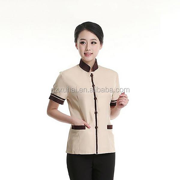 2014 popular office uniform designs for women korean style cleaner s