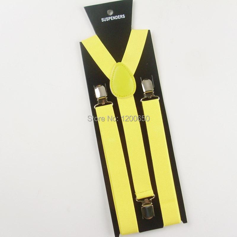 2014  Men suspenders for Женщины Unisex Clip-on Braces Elastic Slim Suspender 1дюйм wide    & Retail
