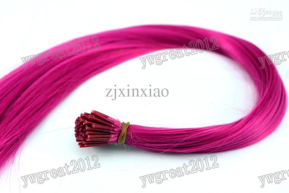 100шт/набор 16' я придерживаюсь tiooed прямой перо волос расширения roseo