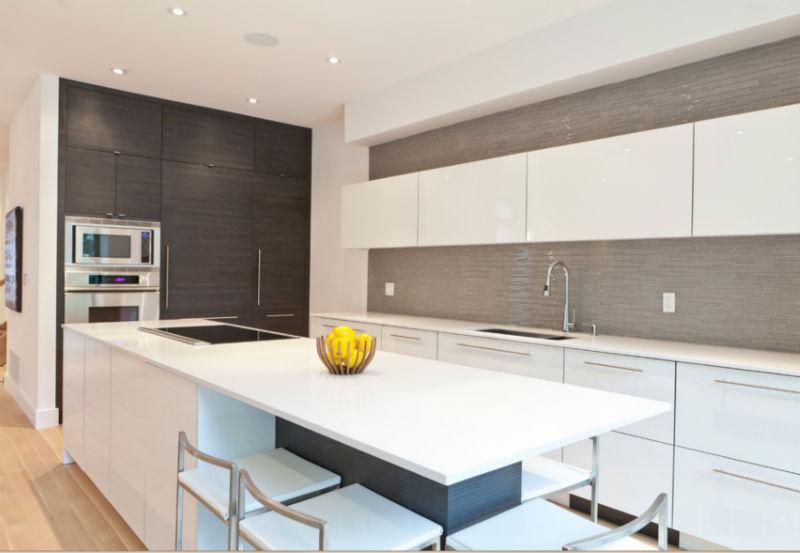 Luxus entworfen große küche, moderne küche schranktür wandschrank ...