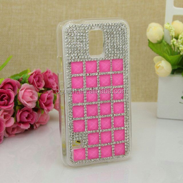 Blue luxury bling rhinestone diamond hard case cover For Samsung 4/S5/S3 and For iphone