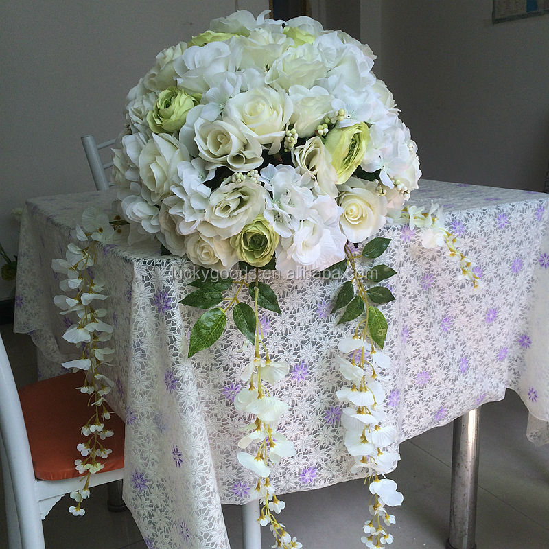 40cm High Quality Decprativ White Artificial Flower Wedding