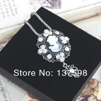 новые винтажные камео кристалл Ожерелья & Подвески хрусталь серебро долго кулон ожерелья старинные ювелирные изделия nke-k66