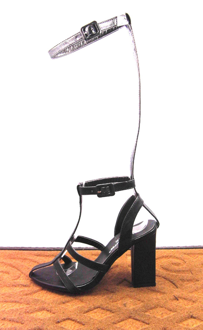 Unique Design!2014 T-stage Catwalk Show Belt Thick Heel High-heeled