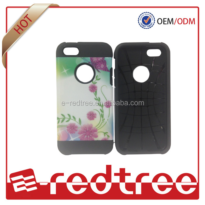 Armor style design with pc glossy mobile phone case for iphone 5