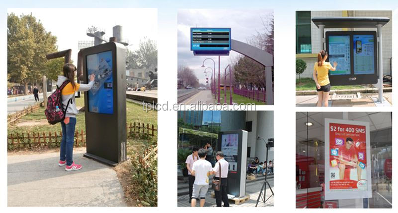 1500nit highway information display outdoor lcd digital signage totem